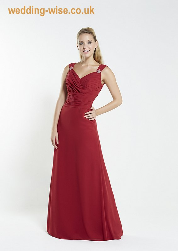 bordeaux chiffon bridesmaid