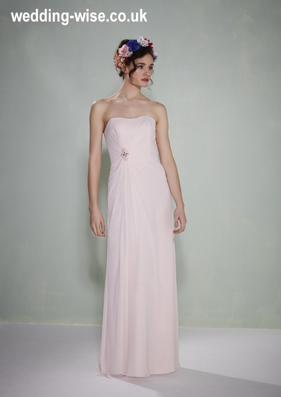 pink chiffon bridesmaid