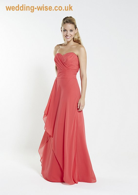 rose chiffon bridesmaid