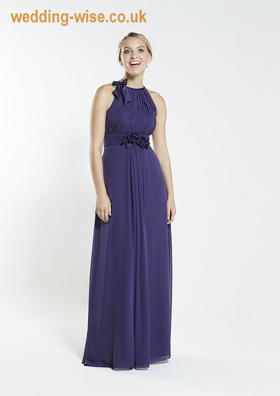purple chiffon bridesmaid