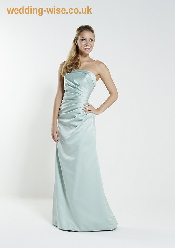 green satin bridesmaid