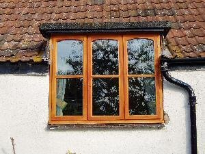 wooden block windows