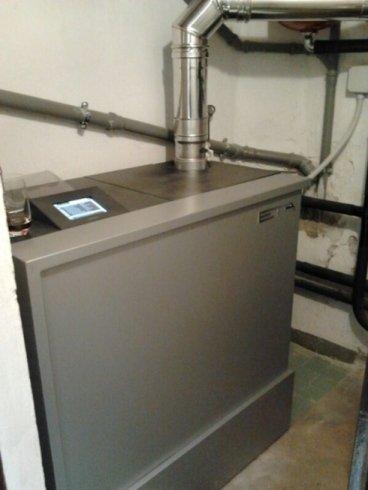 impianto termico con caldaia a pellets