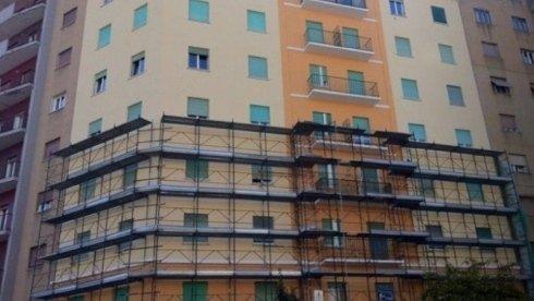 Ponteggio in costruzione