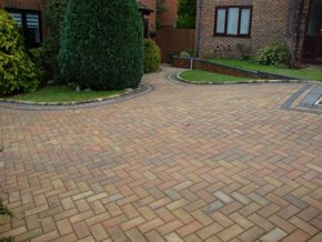A newly fitted driveway