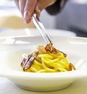 La carbonara del ristorante Sciapó fatta con le nostre uova livornesi.
