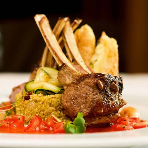grilled lamb - fine dining