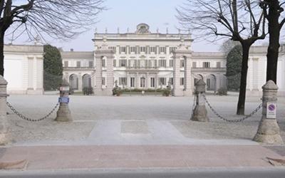 Villa Borromea di fronte a Mauri Onoranze Funebri