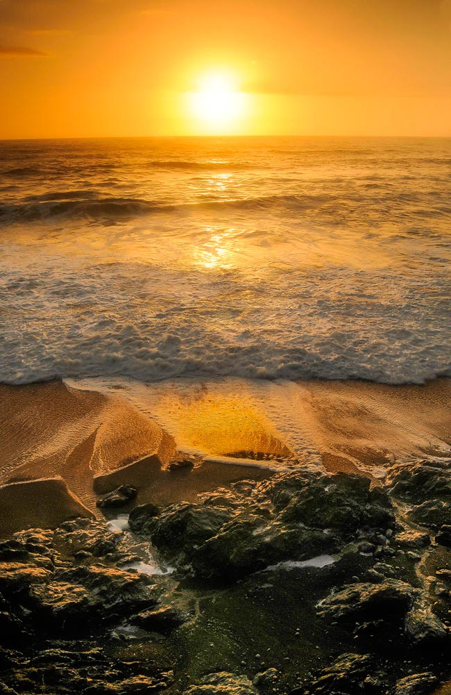 Lost Coast Beach, sunset
