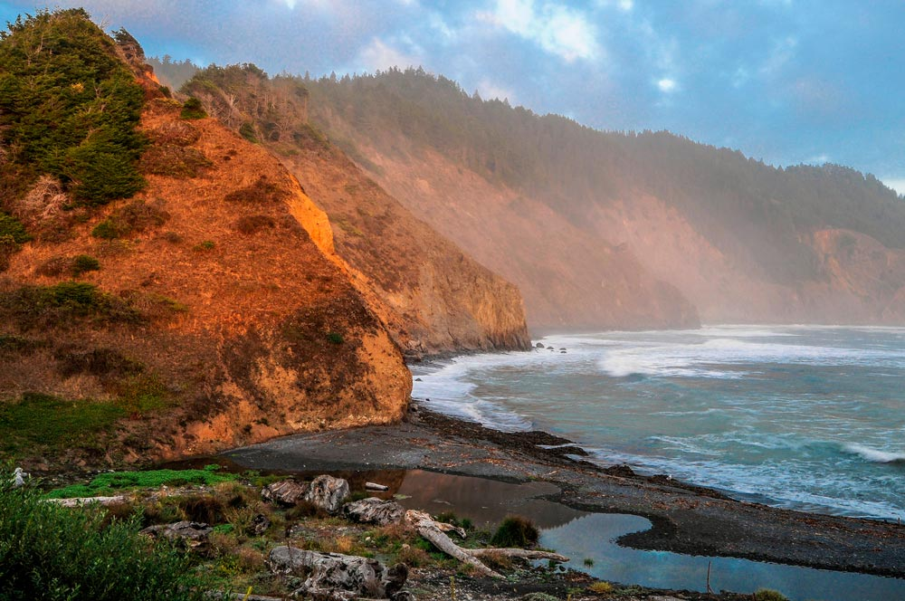 Lost Coast Cliffs, sunrise