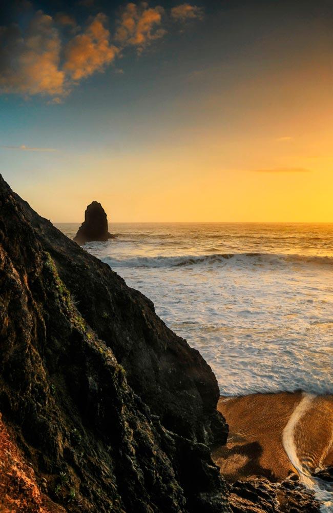 Lost Coast Cliffs, sunset