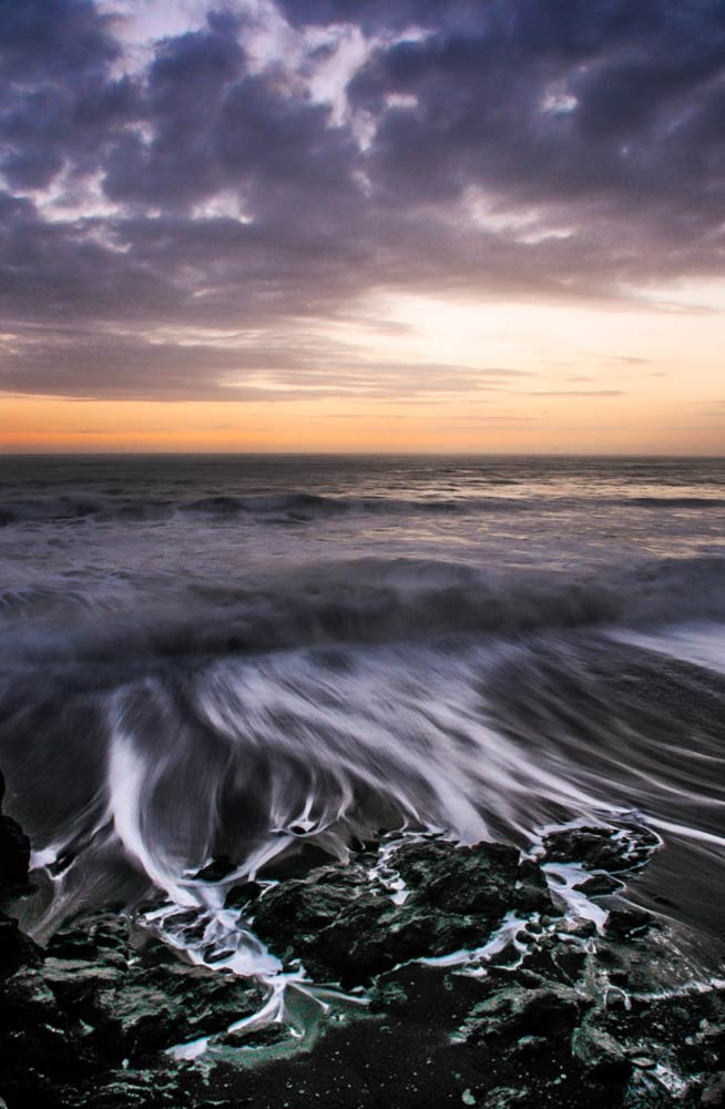 Lost Coast Shore Rocks, sunset