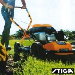 taglio mulching, raccolta, tosaerba manuale