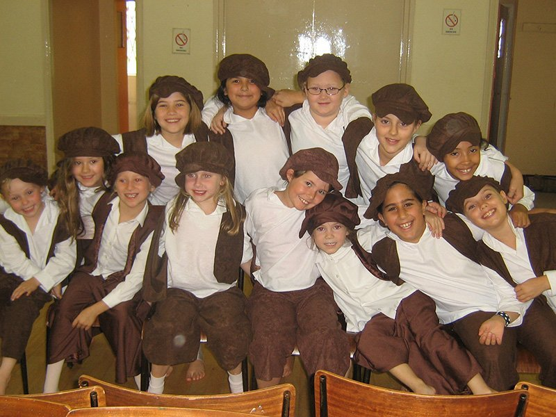 group of kids before dance performance