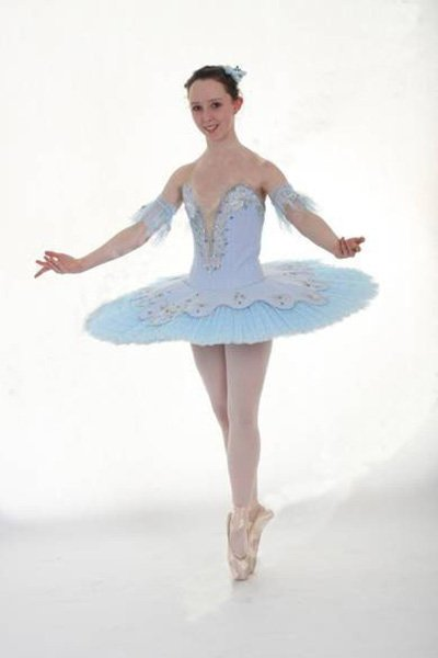 a girl giving a dance performance