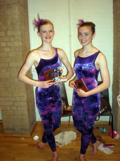 2 girls participating in a dance show