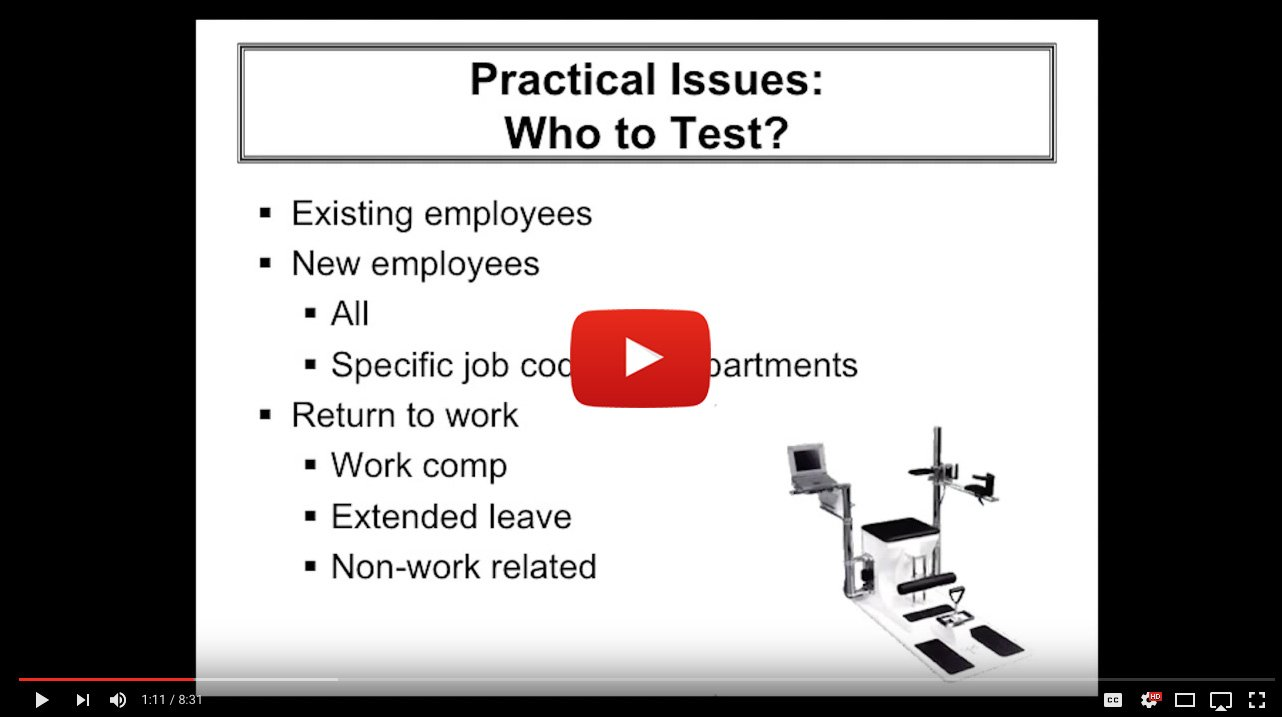 Post Offer Employment Testing - Who To Test