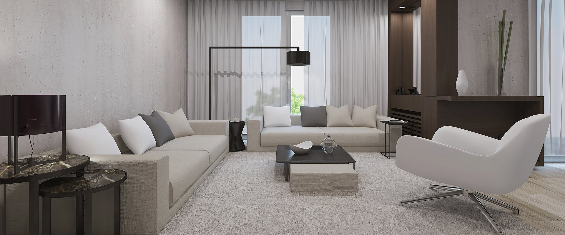 furnished property interiors