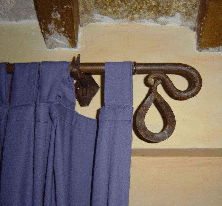 bastoni tenda in ferro battuto