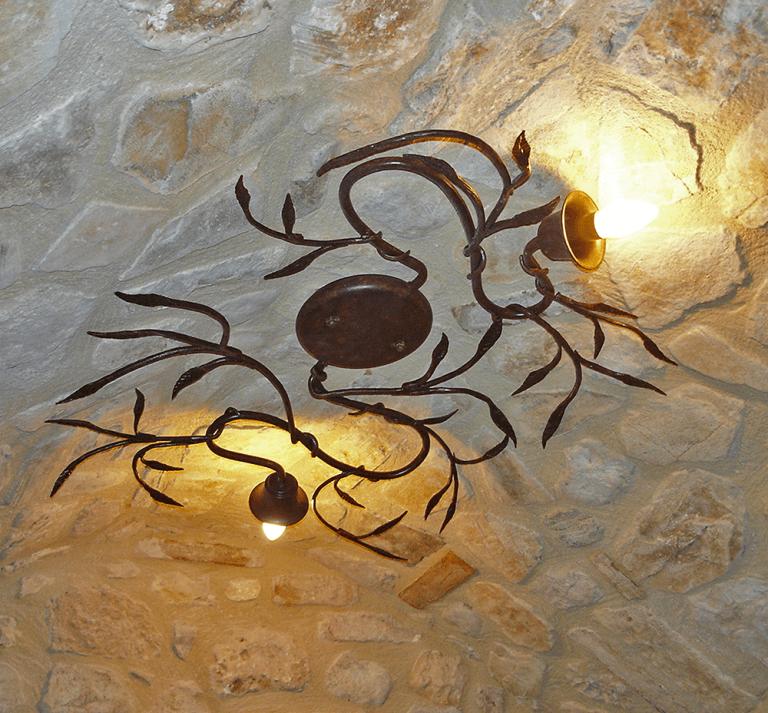lampadari esterno in ferro battuto