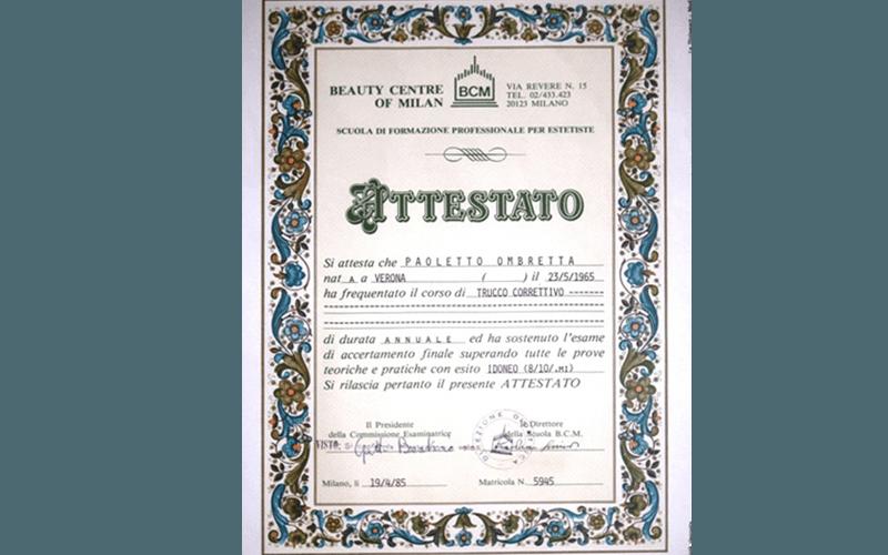 Attestati e certificazioni