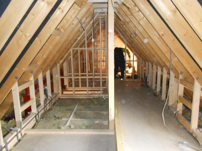 Inside loft before conversion