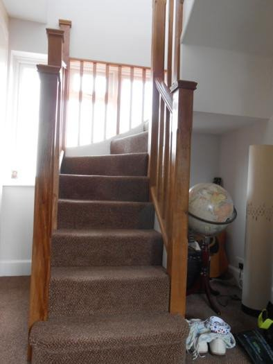 Stairs up to loft