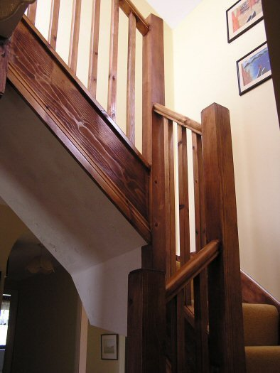Stairs leading up to loft