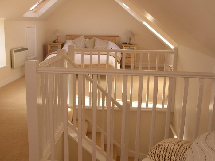 Bannisters in loft