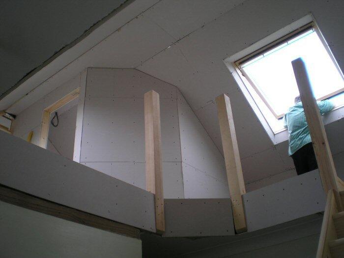 Loft under construction
