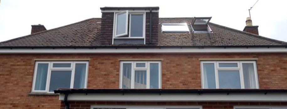 Dormer window and rooflights on roof