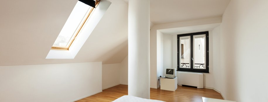 Large loft conversion with pillar
