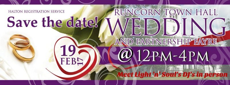 Meet our DJ's at Runcorn Town Hall Wedding Fayre 19th Feb 2017 12pm-4pm
