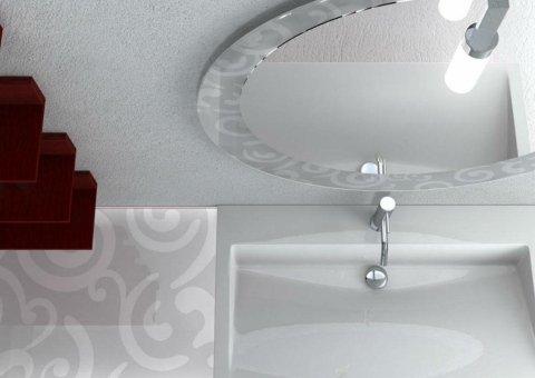 vista dall`alto di un lavandino per il bagno