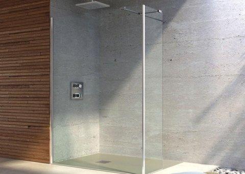 box doccia con muro in granito