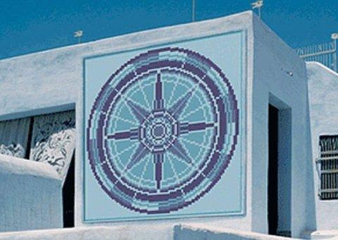 mosaico stella dei venti