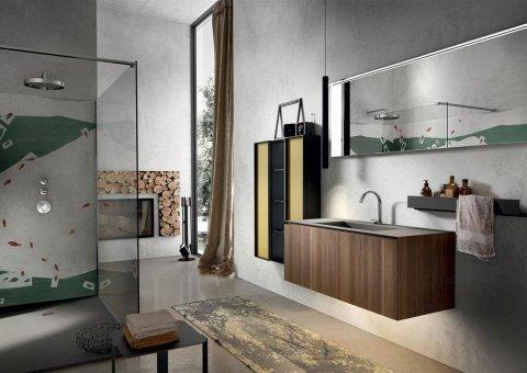 arredamento per il bagno con tappeto