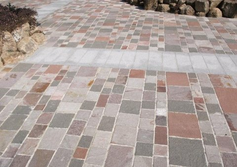 pavimento effetto pietra