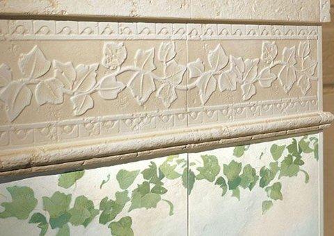 piastrelle in ceramica decorate