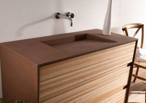 lavello in legno