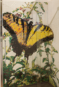 mosaico box doccia