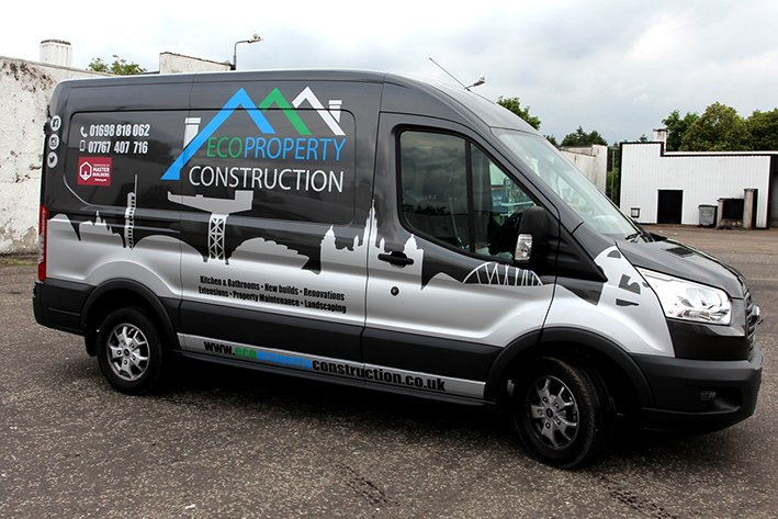 Van Amp Car Wrapping East Kilbride Glasgow Squid Ink Design