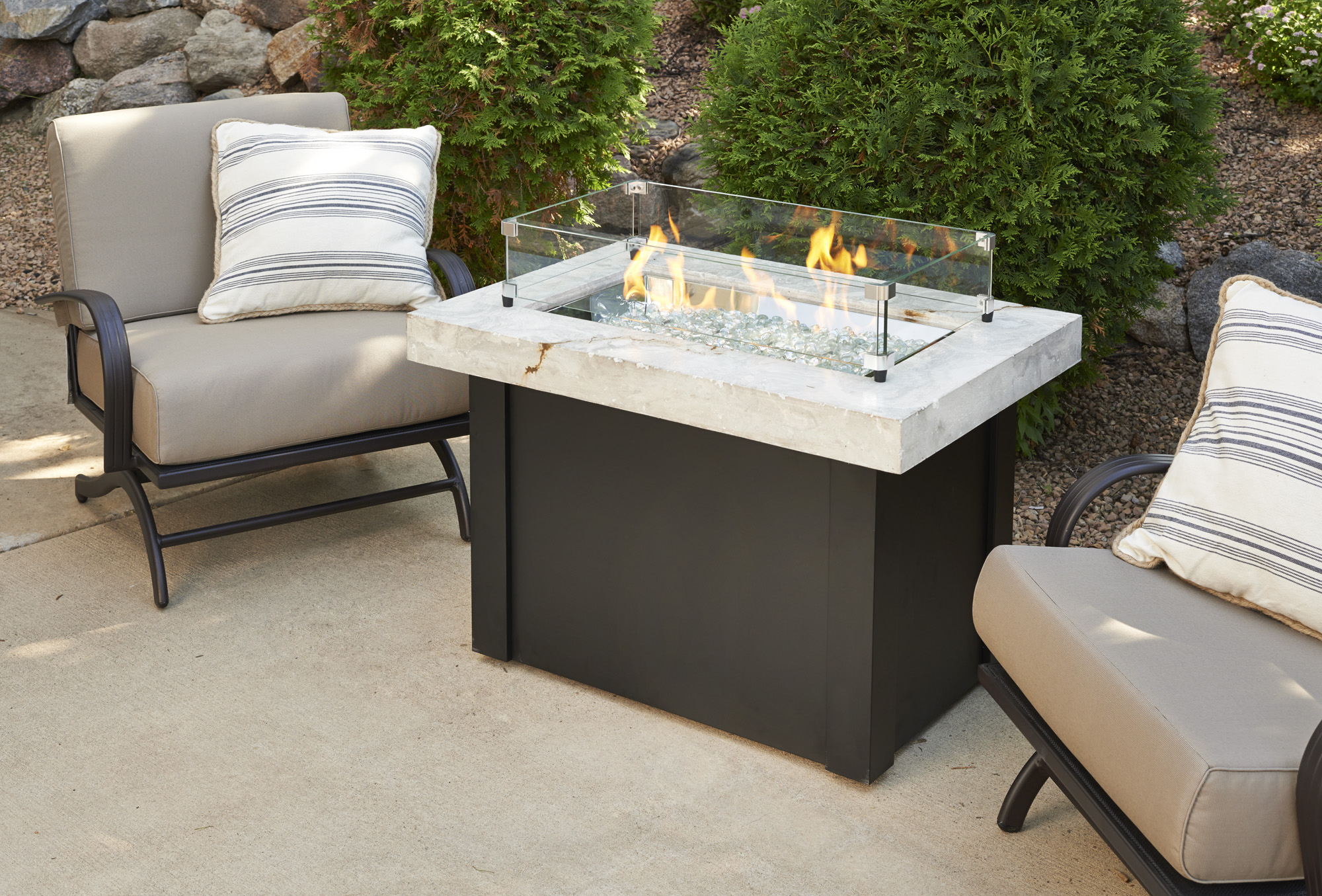 Providence, promotion, sale, fire pit, firepit, fire table,  firetable, Outdoor Greatroom Company