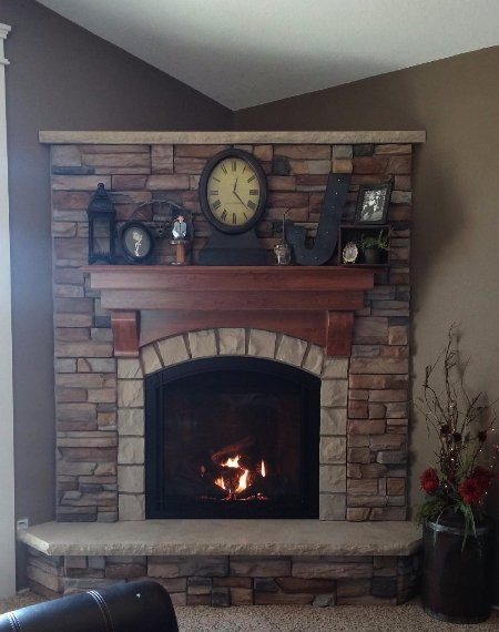 Mendota, gas fireplace, fullview, full view, traditional fireplace