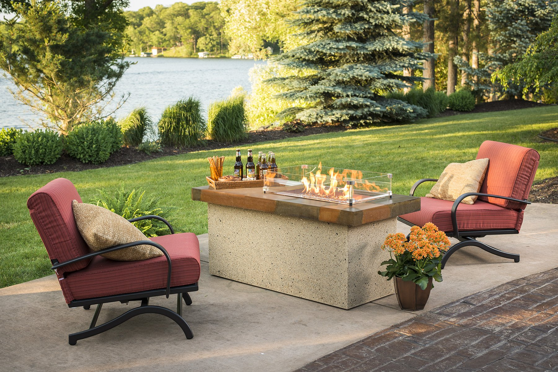 Artisan, granite, dining table, promotion, sale, fire pit, firepit, fire table,  firetable, Outdoor Greatroom Company