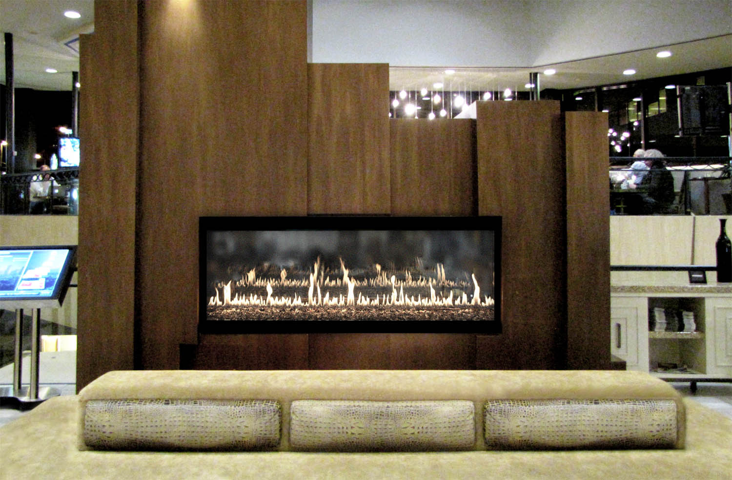 Contemporary Custom Gas Fireplace - Stellar