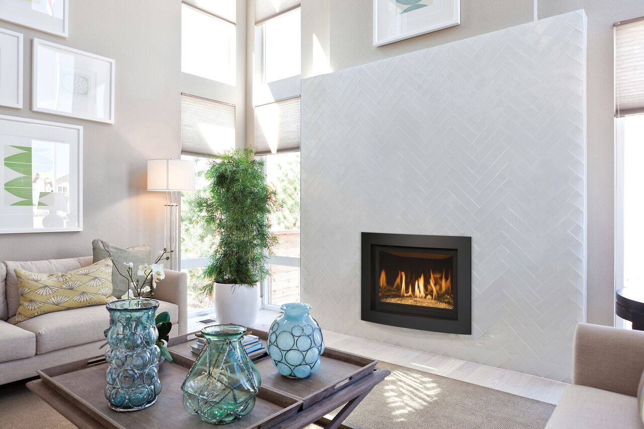Contemporary Gas Fireplace - Kozy Delano