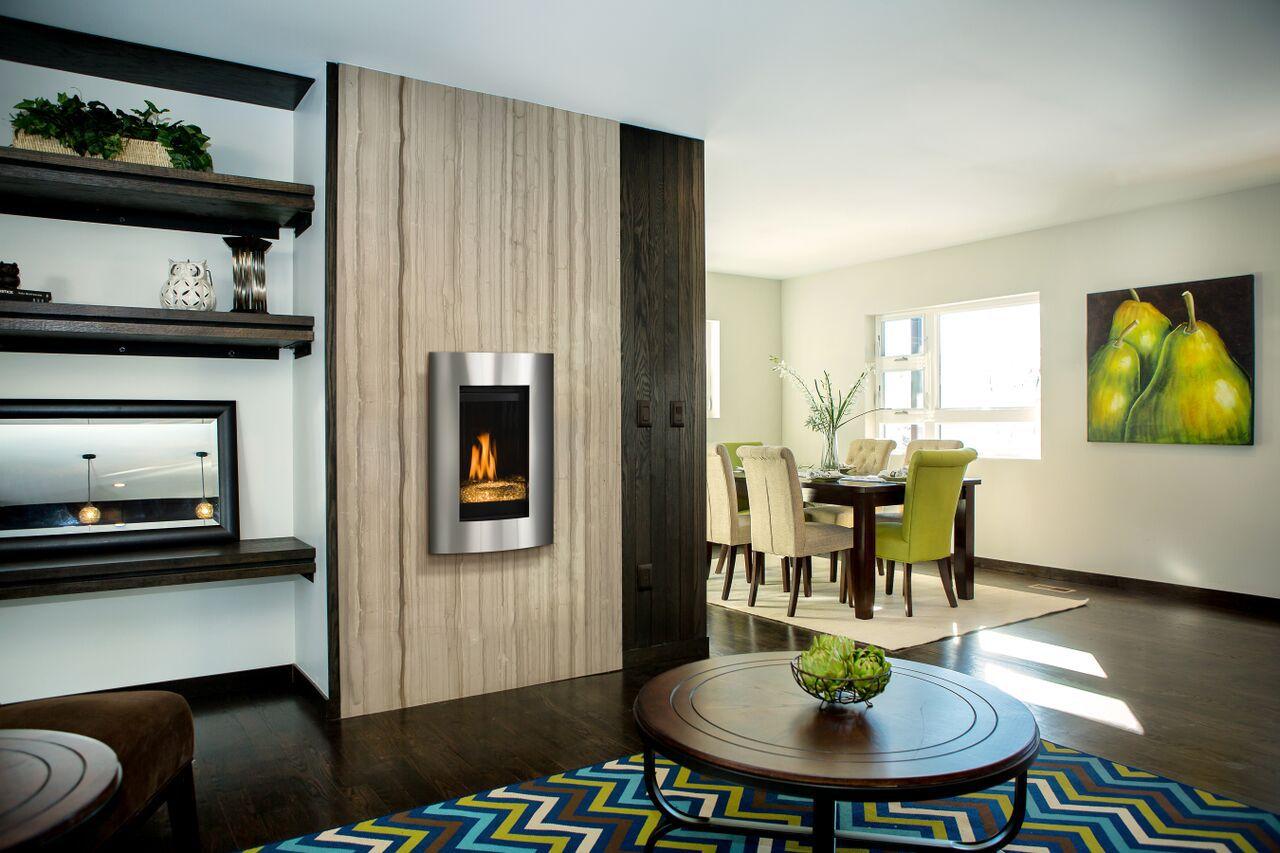 Contemporary Gas Fireplace - Kozy Nicollette SS Convex