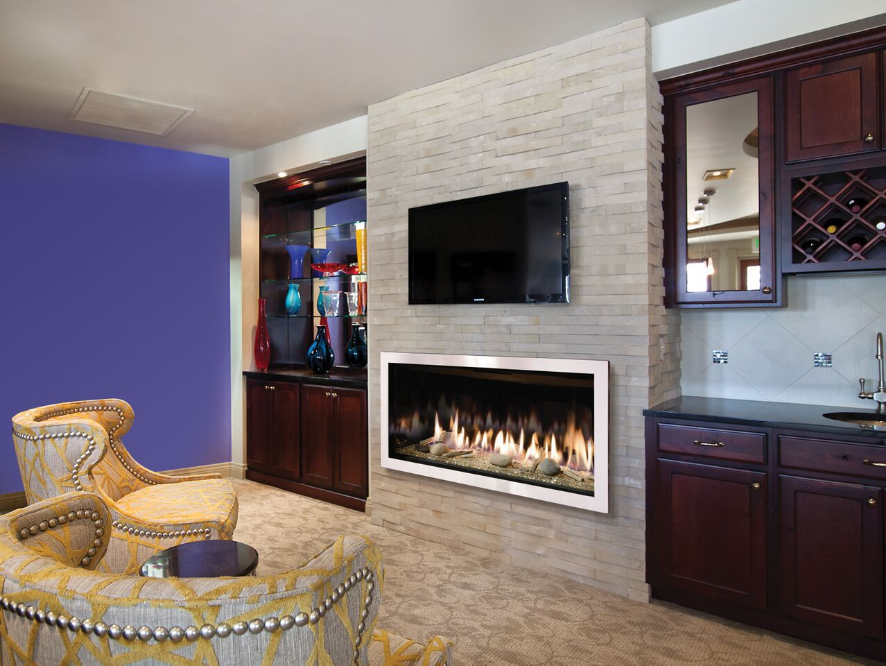Contemporary Gas Fireplace - Kozy Slayton