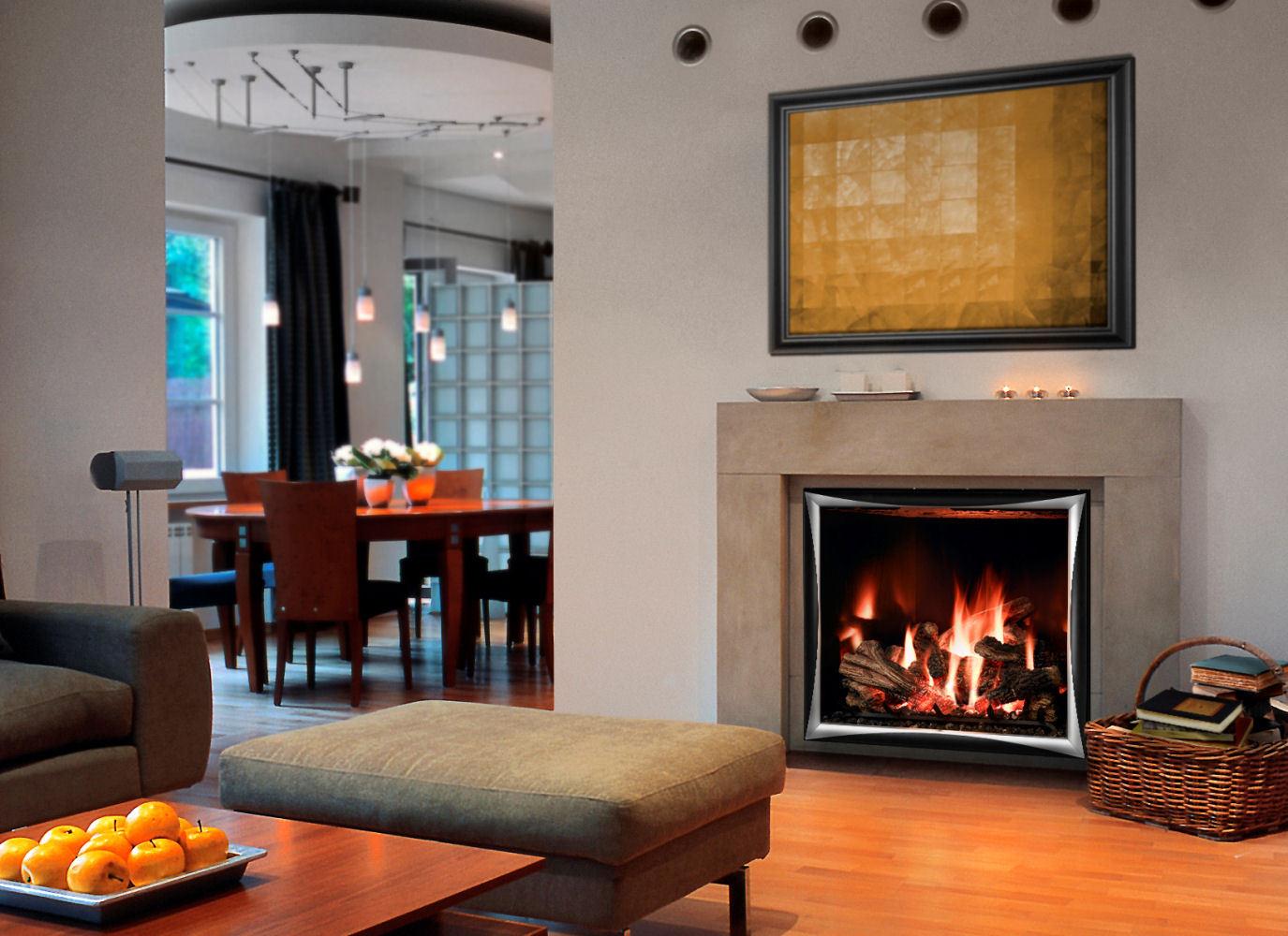 Contemporary Gas Fireplace - Mendota FV41